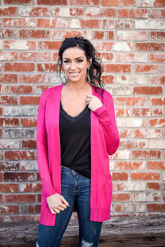 The Harvest Festival Cardigan - Hot Pink - Triangle T Boutique