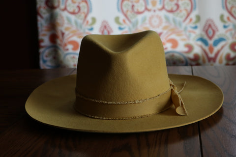 The Outlaw Felt Hat - Mustard - Triangle T Boutique