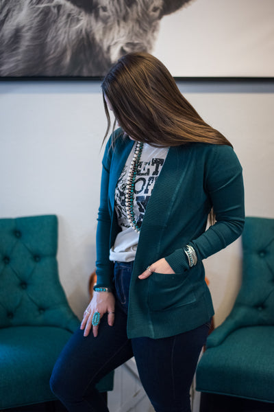 The Melody Cardigan - Teal