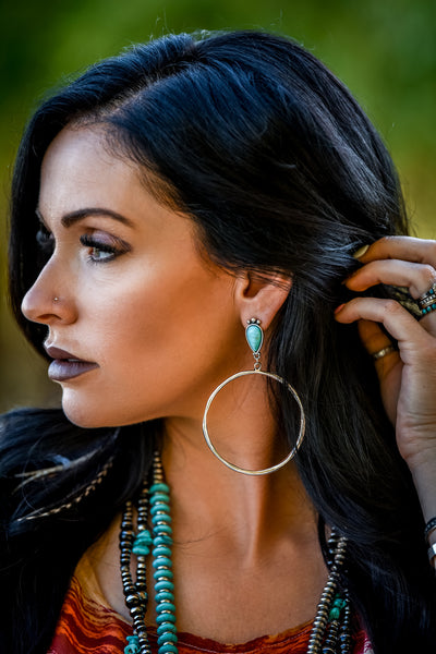 The Ashley Turquoise Hoops