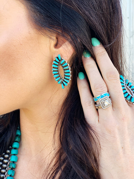 Turquoise Earrings - Triangle T Boutique