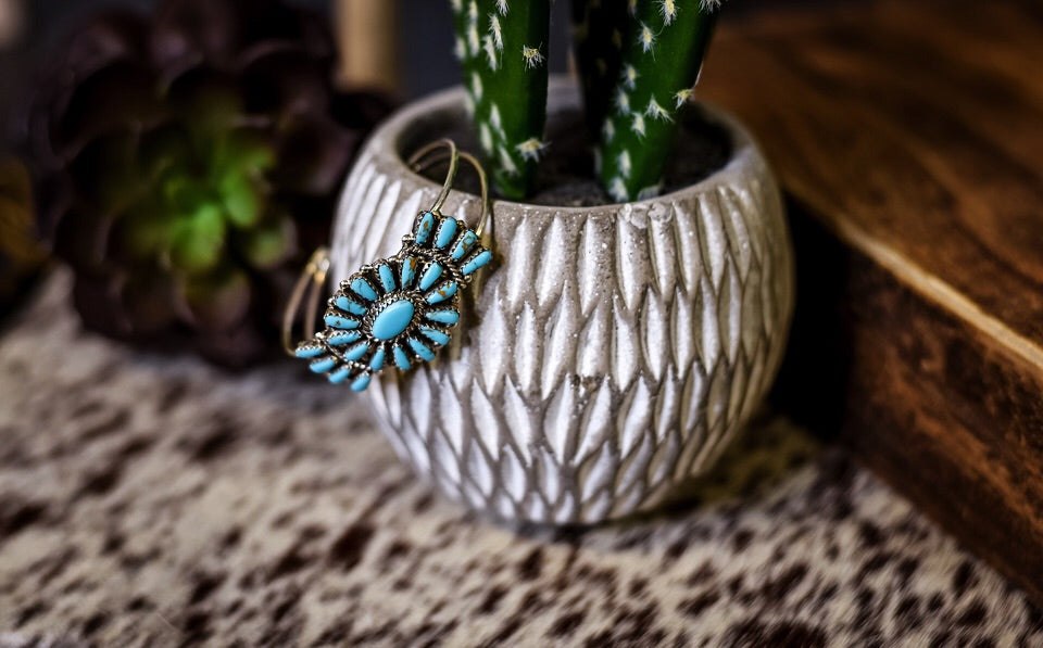 Small Turquoise Cuff - Style 2 - Triangle T Boutique