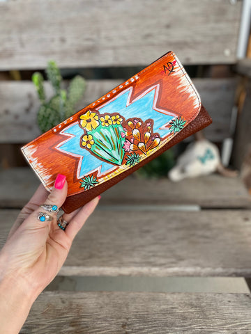 Painted Mesa Wallet - Cactus