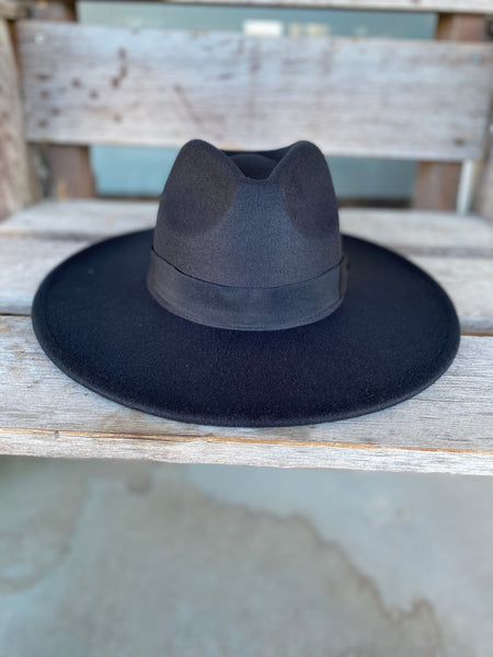 The Ruby Felt Hat - Black