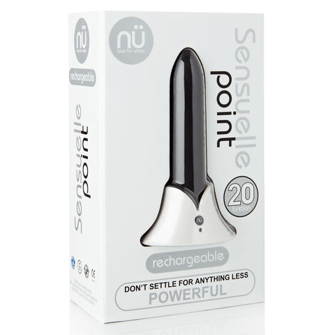 Sensuelle Point 20 Function Bullet Vibrator - Black