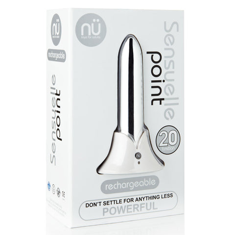 Sensuelle Point 20 Function Bullet Vibrator - Silver