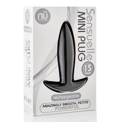 Sensuelle 15-Function Vibrating Mini-Plug - Black
