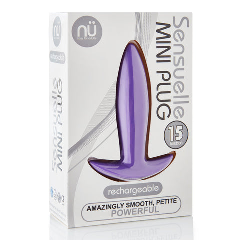 Sensuelle 15-Function Vibrating Mini-Plug - Purple