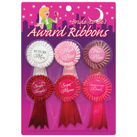 Bride To Be Award Ribbons 6-Pack