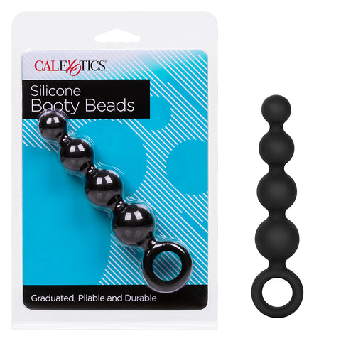 Coco Licious Anal Booty Beads Silicone - Black