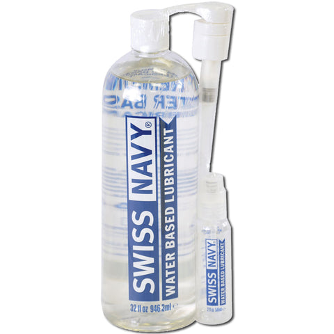 Swiss Navy Water-Based Lubricant 32 oz.