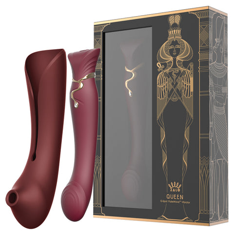 ZALO USA Queen Set Wine Red