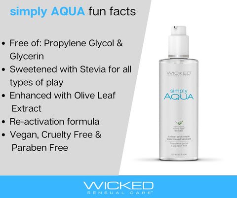 Wicked Simply Aqua Water Based Lubricant