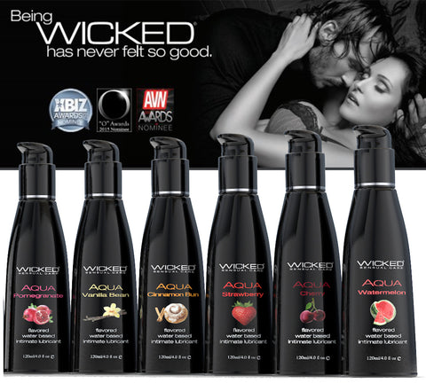 Wicked Aqua Flavored Water Based Lubricants