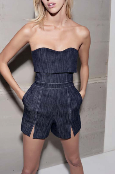 Alexis Denim Romper
