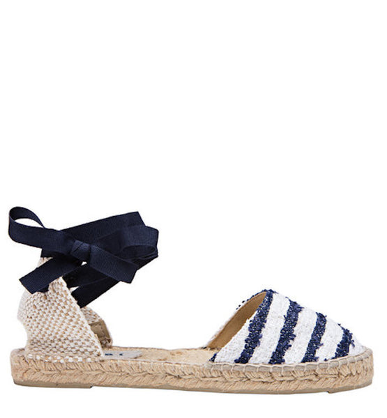 Manebi Paris Blue Stripe Sandal