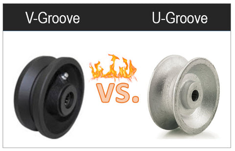 Difference of V-groove Wheels to U-Groove Wheels