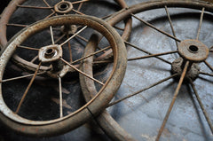 vintage wheel for DIY home furniture project - caster wheels