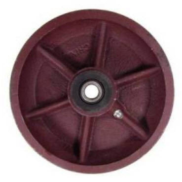 6 inch metal track wheel - v groove wheel - ductile steel 1500 lb capacity - heavy duty -  groovedwheels.com 1