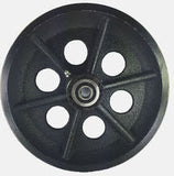 8 inch metal track wheel - v groove wheel - cast iron 1200 lb capacity - groovedwheels.com 3