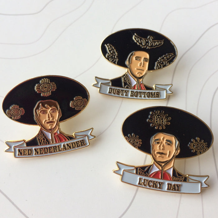 ¡Three Amigos! Enamel Pins | All Three