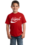 Youth Red Enjoy Cocaine - Funny Soda Pop Parody Drug Humor T-shirt