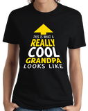 Ladies Black This Is What A Really Cool Grandpa Looks Like T-shirt