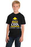 Youth Black This Is What A Really Cool Grandpa Looks Like T-shirt