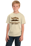 Youth Natural My Couch Pulls Out, But I Don't - Mustache Bad Pick-up Line T-shirt