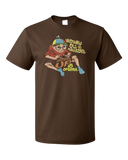 Standard Brown Growing Old Is Mandatory, Up Is Optional - Aging Humor Old Man T-shirt