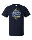 Standard Navy Misuse Of Literally Drives Me Figuratively Insane - Grammar Snob T-shirt