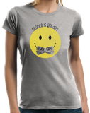 Ladies Grey Silence Is Golden - Sarcasm Warning Stop Talking Funny Humor T-shirt