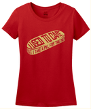 Ladies Red I Used To Care, But I Take A Pill For That Now -Fun Sarcasm Meds T-shirt