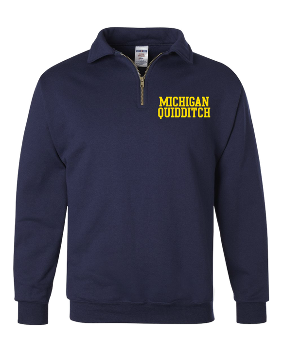 Michigan Quidditch Quarter Zip