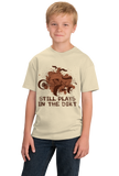 Youth Natural 4 Wheel: Still Plays In Dirt - Offroading Pride Mud 4WD Dirt Fun T-shirt