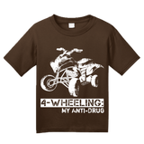 Youth Brown 4 Wheeling: My Anti-Drug - Outdoor Offroading 4WD pride quads T-shirt