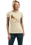 Ladies Natural If Mud Ain't Flyin, You Ain't Tryin - 4 Wheeler Mud Quads Muddin T-shirt
