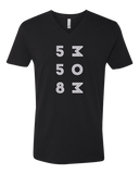 V Neck Black 558 MOM Logo T-shirt