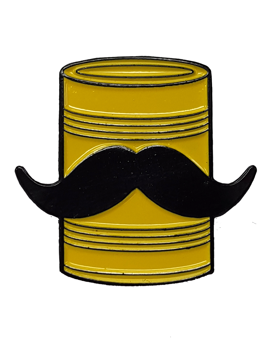 Tin Can Mustache Pin product shot