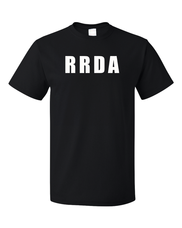 Unisex Black RRDA - Fit Big Things in Tight Places T-shirt