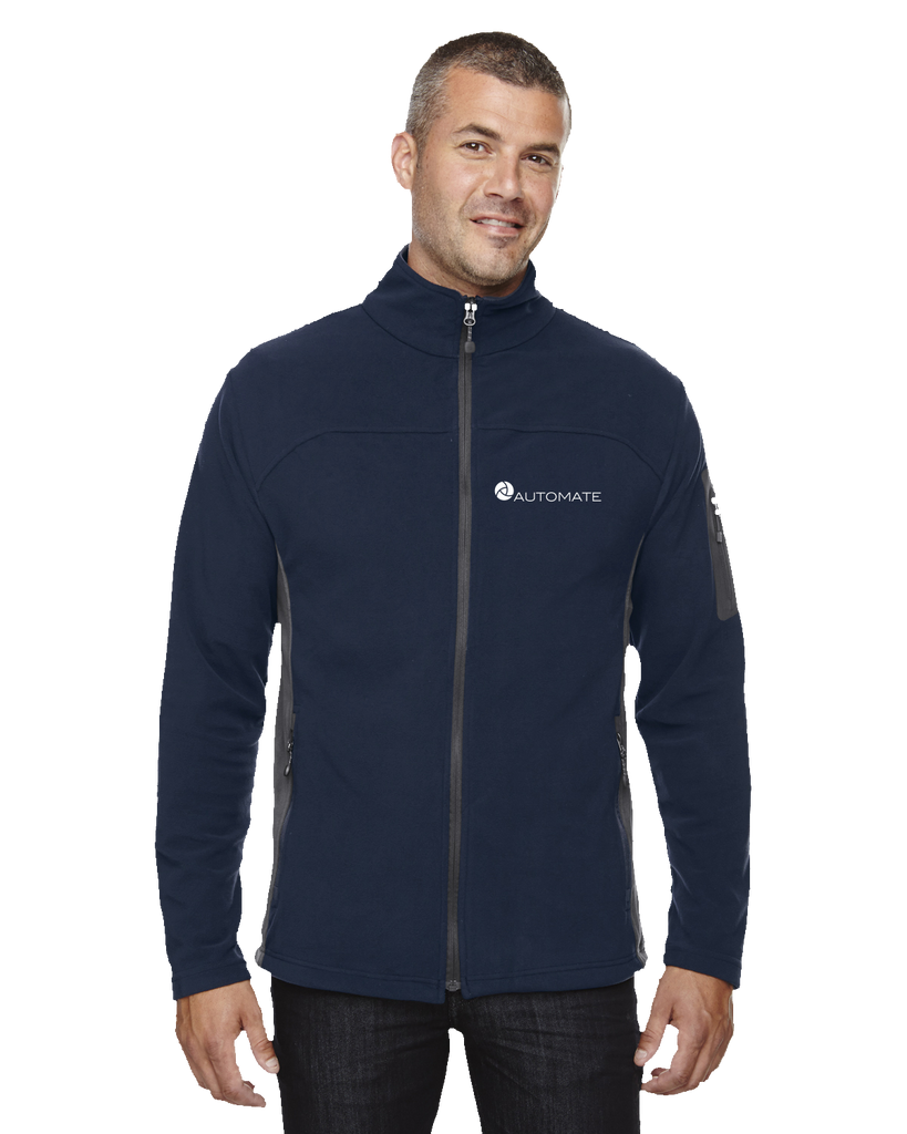 North End Men's Microfleece Jacket Midnight Navy Automate Fleece (Ladies and Unisex) Microfleece