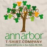 Official Ann Arbor Tees Logo Natural Art Preview