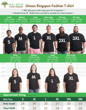 Size Chart showing Real Men and Real Women in each size