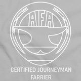 Men's or Ladies' Short Sleeve Journeyman Cool Grey Art Preview