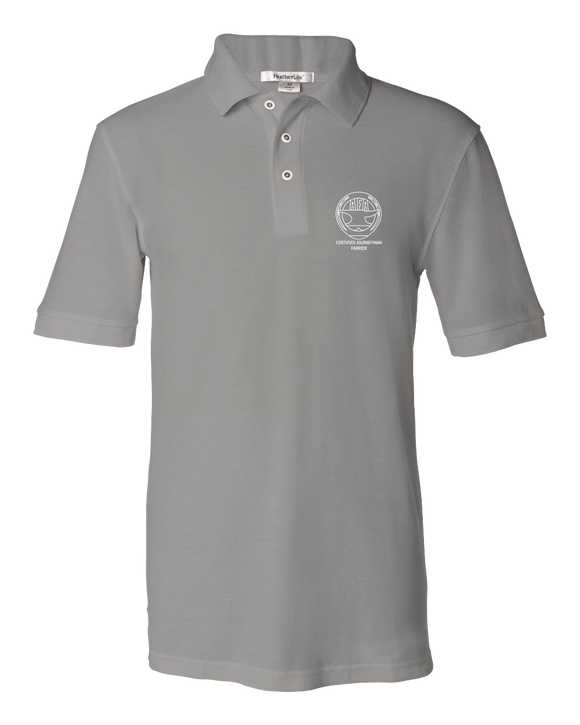 Unisex Pique Polo Cool Grey Men's or Ladies' Short Sleeve Journeyman Polo