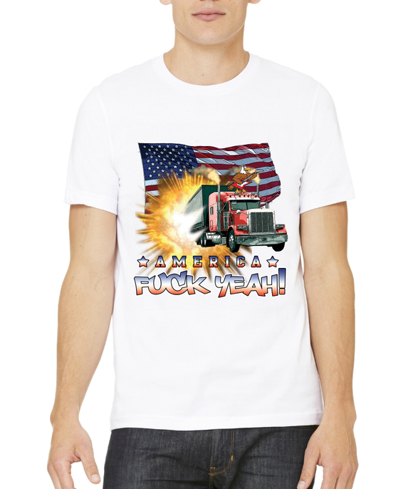 Standard White America Fuck Yeah! - Patriotism Merica America Pride 4th of July T-shirt