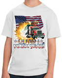 Youth White America Fuck Yeah! - Patriotism Merica America Pride 4th of July T-shirt