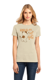 Ladies Natural Because I'm An Artist - Artsy Fartsy Pride Rebel Kitten Artist T-shirt