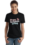 Ladies Black Prone To Uncontrollable Arting - Funny Artist Creative Humor Pun T-shirt