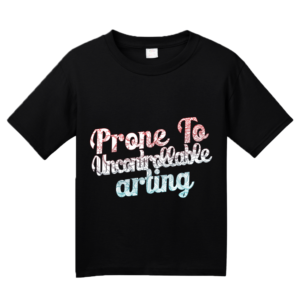 Youth Black Prone To Uncontrollable Arting - Funny Artist Creative Humor Pun T-shirt